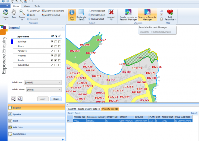 Link from MapInfo Exponare